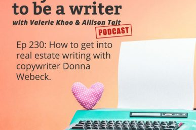 """An interview with Valerie Khoo – how humbling to be featured on the """"So You Wanna Be A Writer"""" Podcast"""