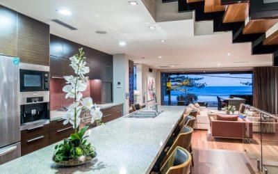 Tri-level Modern Masterpiece in Exclusive Beachfront Location (Harcourts Coastal)