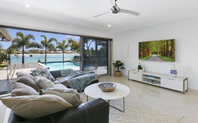 Enviable Palm Beach Entertainer on a Wide Waterfront Block (PRD)