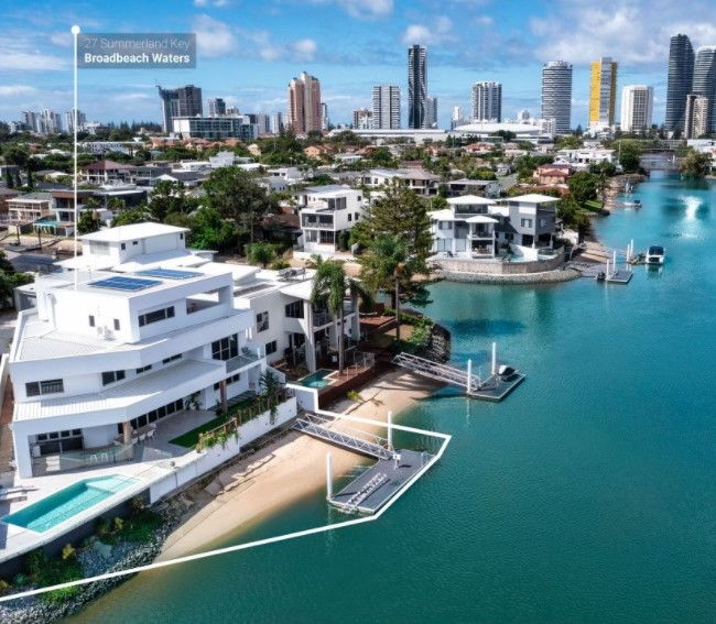 Architectural Entertainer With 32 M* Waterfrontage in the Heart of Broadbeach (Amir Prestige)